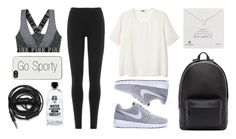 """Go Sporty!"" by eva-jez ❤ liked on Polyvore featuring DKNY, PB 0110, Dogeared, Zero Gravity, Urbanears, Aquaovo and sportystyle"