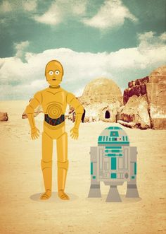 Poster Star Wars - Droids in Tatooine                              …