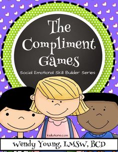 Build social skills with neurotypical and special needs kids. The Compliment Games: Social Skill Building Series. Social Skills Activities, Teaching Social Skills, Teaching Kids, Giving Compliments, School Social Work, Anxiety In Children, Social Thinking, Character Education, School Psychology