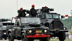 Land Rover and Indonesian Special Forces, Kopassus .