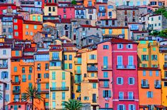 Provence Village of Menton, Provence-Alpes Cote d'Azur, France | The 24 Most Colorful Cities In The World