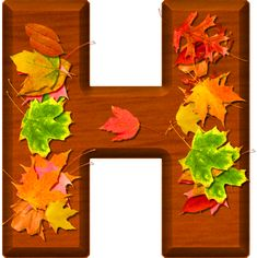 Presentation Alphabets: Cherry Wood Leaves Letter H Fancy Letters, Fall Fest, Create Words, Alphabet And Numbers, Alphabet Letters, Happy Fall Y'all, Lettering Design, Flower Patterns, Autumn Leaves