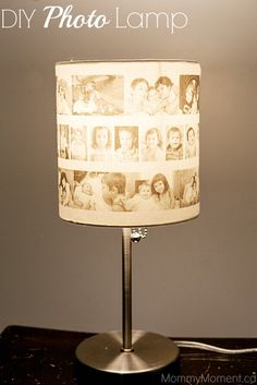 DIY Photo Lamp - a tutorial on how to make your own photo lamp to keep or give as a gift.