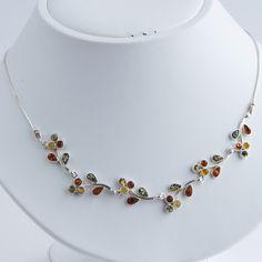 Baltic Amber Leaf Vine Necklace – The Amber Room