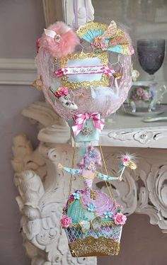 Marie Antoinette Party Inspiration board by Bella Bella Studios ~ photo via an artful adventure Marie Antoinette, Paper Crafts, Diy Crafts, Pink Christmas, Collage, Pretty Pastel, My New Room, Hot Air Balloon, Altered Art