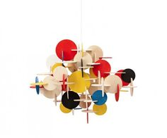 The name of the particular modern lamp design is Bau Pendant. Designed by Vibeke Fonnesberg Schmidt, the lamp design is delivered for Normann-Copenhagen. The particular Danish modern ornamental suspension lamp takes the various color of modern ornamental lamp design. Due to its simple design, this item may be included in interior designer scope of work. The unusual pattern of the ornamental part gives the room a modern unusual atmosphere.