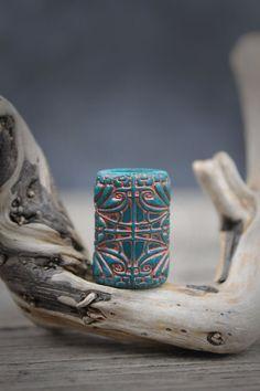 Pine green dread bead Dreadlock jewelry braids by Lelandjewelry #dreadbeads #dreadstop