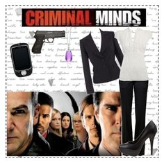 Criminal Minds by hannah-banana on Polyvore featuring Red Herring, Petite Collection, Balmain, Steve Madden, Paloma Picasso, criminal minds and tv show