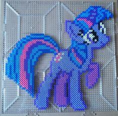 Twilight Sparkle Perler beads by *The-Original-Kopii on deviantART