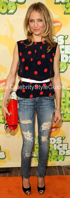 Cameron Diaz in Seven for all Mankind jeans