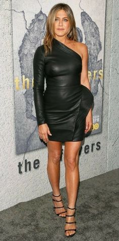 Tagged with hot, actress, jennifer aniston; Shared by jennifer aniston Jennifer Aniston Style, Jennifer Lopez, Jennifer Aniston Hairstyles, Jennifer Aniston Pictures, Jennifer Meyer, Leather Mini Dress, Leather Dresses, Jeniffer Aniston, John Aniston