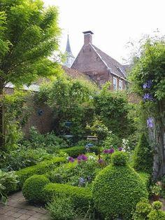 Lovely small backyard garden
