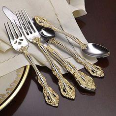 Oneida Golden Michelangelo 66 Piece Service for 12 Flatware Set