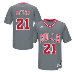 de43aef69 Men s Chicago Bulls Jimmy Butler adidas Gray Pride Swingman Jersey