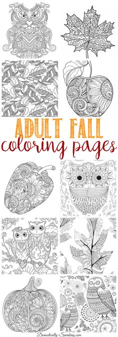 Fall Coloring Pages for Adults - (domestically-speaking)                                                                                                                                                                                 More