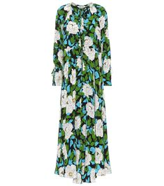 Diane von Furstenberg - Floral-print silk maxi dress - Diane von Furstenberg makes a garden party wearable with this maxi dress, cut from fluid silk to swish and flow, and covered in a bold floral print that captivates. A lightly fitted top is not only flattering, but also enhances the flutter of this bloom-covered skirt. Wear yours for a sense of modern romance, accessorized with a colour-pop clutch and strappy sandals. seen @ www.mytheresa.com