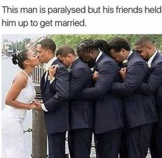 Groomsman hold up paralyzed groom for his wedding : pics Trendy Wedding, Wedding Pictures, Dream Wedding, Wedding Ideas, Foto Wedding, Wedding Goals, Wedding Stuff, Wedding Inspiration, Got Married