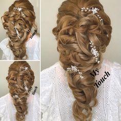 Bridal hair, bridal updo, hairstyle, hairstyles, mermaid braid