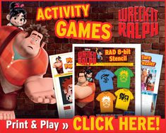 Wreck-It Ralph Printable Activities