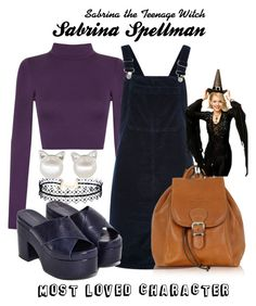 Sabrina the Teenage Witch by sparkle1277 on Polyvore featuring polyvore, fashion, style, Topshop, WearAll, Jeffrey Campbell, Robe di Firenze, LULUS and clothing