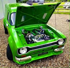This thing is slick! Classic Cars British, Ford Classic Cars, Escort Mk1, Ford Escort, Ford Capri, Ford Rs, Aussie Muscle Cars, Cool Vans, Hot Rod Trucks