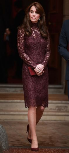 Kate Middleton always nails the Royal Family style -- her amazing plum dress revealed here!