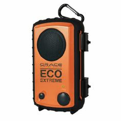 Amazon.com: Eco Extreme 3.5mm Aux Waterproof Portable Speaker Case (Orange): MP3 Players & Accessories