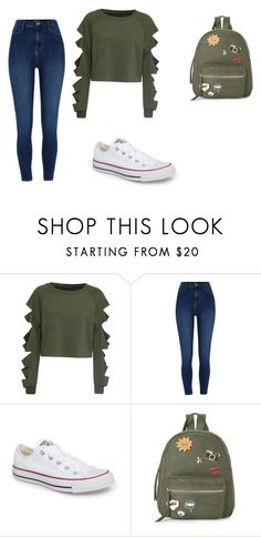 """""""Casual Outfit"""" by takirah-jeffries on Polyvore featuring WithChic, River Island, Converse and IMoshion"""