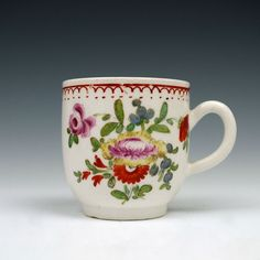 A Bow porcelain Floral pattern Coffee Cup c1770