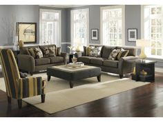 Cassidy Charcoal 2-PC Sofa & Loveseat Package - Value City Furniture