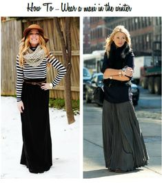 how to wear a maxi in the winter, tips on how to wear a maxi in cooler weather
