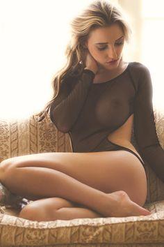 Beautiful nude wife in lingerie