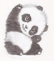 How to draw & paint a piece of animal art. How To Draw A Panda - Step 2