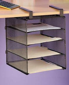 43 Ideas For Tiny Office Organization Space Saving Storage Small Office Organization, Home Office Organization, Office Storage, Storage Organization, Shelf Organizer, Business Organization, Organizers, Storage Ideas, Space Saving Desk
