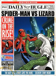 Classic Spider-Man Villain Art for The Daily Bugle