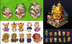 Mascot design, shop design, 500mil design for Japan Life!