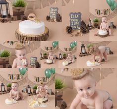 """""""Where the Wild Things Are"""" cake smash session by Cherilyn Haines Photography"""
