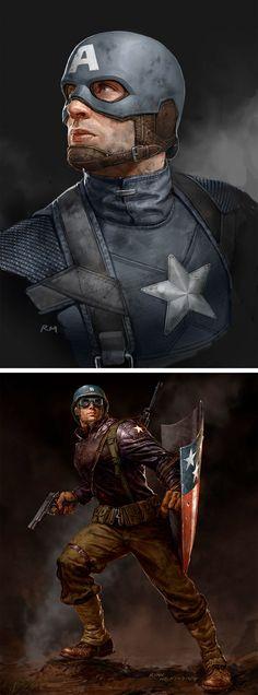 Rates de Ryan Meinerding para a Marvel Studios | Captain America