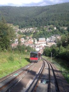The Sommerbergbahn in Bad Wildbad is one of Germany's many funicular rails, offering something unique for the kids, and beautiful views for the adults as the cable car climb the hill.