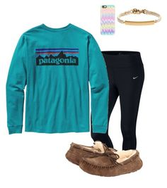 """""""Simple"""" by prepallday ❤ liked on Polyvore featuring NIKE, Patagonia, UGG Australia, Casetify and J.Crew"""