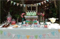 Shabby Chic Fairy Party | CatchMyParty.com