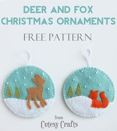 Felt Deer & Fox Ornament Tutorial | Go To Sew