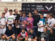 Rafael Nadal during the awarding ceremony of Masters Rafa Nadal Tour by Mapfre 2016 at the Rafa Nadal Academy in Manacor, 24 September 2016.