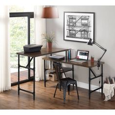 Image result for two desks different heights one room
