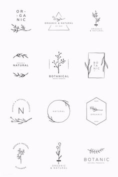 Organic product brand logo vector collection premium image by sasi Graphisches Design, Brand Design, Free Logo Design, Logo Design Tips, Logo Desing, Bakery Logo Design, Vector Logo Design, Logo Design Trends, Name Design
