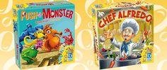 Push -A- Monster & Chef Alfredo, los dos nuevos juegos familiares que lanza Queen Games a través de Kickstarter. Se pueden comprar juntos o separados.