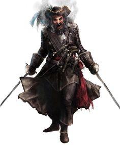 Blackbeard concept from Assassin's Creed IV: Black Flag