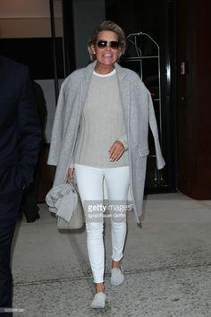 Yolanda Hadid is seen on April 11, 2016 in New York City.