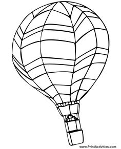 coloring pages hot air balloon free printable coloring pages