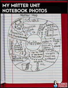 Matter science notebook photos